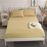 Wholesale white fitted sheets resale online - Quality Fitted Sheet Mattress Cover Bedding Linens Bed Sheets with Elastic Band Double Queen Size High cm Bed Sheet