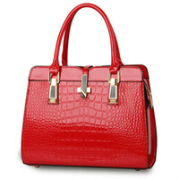 sacs vernis rouge achat en gros de-MONNET CAUTHY Sacs pour femme en cuir verni Bureau Lady Party Fashion Sacs à main de bonbons Couleur Beige Lavande Beige Kaki Rose Rouge Totes