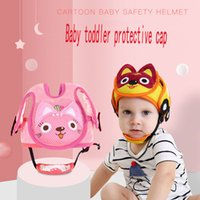 Wholesale safety cap helmet - Baby 2018 New Shatter-resistant Head Cotton Crystal Wool Protection Cap Baby Toddler Bumper Cap Child Safety Helmet Head Pillow