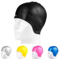 9a014996b015 Nuovo cappello da nuoto in silicone sagomato professionale Cappello in  silicone protezione normale Cuffia da nuoto Cuffie da nuoto Accessori  Cappelli ...