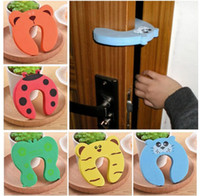Wholesale child safety door stops resale online - Practical Jokes Toy Kids Baby Cartoon Animal Stop Edge Corner Children Door Stopper Guards Holder Lock Safety Finger