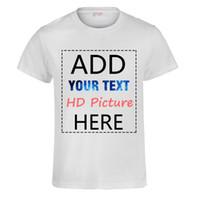 54e6cfc259b94e T-shirt personalizzata fai da te Stampa la tua foto personalizzata Testo  Logo Azienda di alta qualità in cotone per donna Uomo Unisex T-shirt Tops