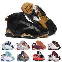 melhores tênis de basquete venda por atacado-[Com Caixa] Atacado 7 Francês Azul Basketball Shoes VII Formação Barato 7 s calça esportiva Melhores Botas de Atletismo Desconto Size8.0-13