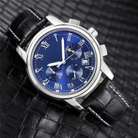 Wholesale leather belt color men for sale - 2018 Fashion stainless Steel Quartz Man Leather watch Japan Movement watches Waterproof mm male Wristwatches Noctilucent function