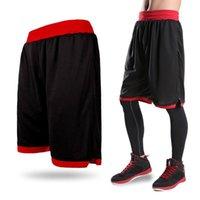 Wholesale Boys Black Trousers - New 2018 Men's Basketball Shorts Boy Sport Running Short Trousers Training Fitness Elastic Summer Beach Gym Breathable Plus Size