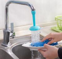 interruptor de control de flujo de agua al por mayor-Grifos Fregadero de la cocina Grifo Lavado Plato Grifo Ajustable Ahorro de agua Extendido Boquilla de ducha Reemplazo Grifos de baño, Duchas Accs