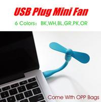 iphone taşınabilir güç kaynağı toptan satış-Taşınabilir Mini USB Esnek Fan tüm güç kaynağı araçlar için Smartphone Laptop için Andriod iPhone Mucti-fonksiyonu ...