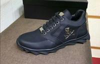 top model hommes chaussures de sport achat en gros de-NOUVEAU ARRIVÉ TOP QUALITY BLACK WHITE COLORS SPORT MODEL HOMME CHAUSSURES HAUTE QUALITÉ CUIR PP MATÉRIAU DE SEMELLE CHAUSSURES EU38-45 TAILLE LIVRAISON GRATUITE