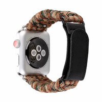 relojes de pulsera de cuerda al por mayor-Woven Nylon Sports Watch Band 38 / 42mm Series 1 2 3 Outdoors Survival Rope Loop iwatch pulsera I325.