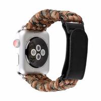 seil armband uhren großhandel-Woven Nylon Sportuhr Band 38 / 42mm Serie 1 2 3 im Freien Überlebens-Seil-Schleife iwatch Armband I325.