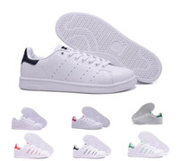 Wholesale hooks plastics resale online - 2018 Stan Smith Spring Copper White Pink Black Fashion Shoe Man Casual Leather brand woman mens shoes Flats Sneakers