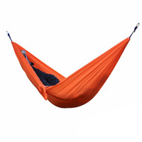 Wholesale Garden Furniture Swings - Solid Color Nylon Parachute Hammock Camping Survival garden swing Leisure travel Portable outdoor furniture