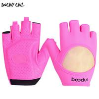 Wholesale Driver Gloves - 2018 Ms. Sports Style Half Finger Drivers two Colors sports gloves Ms. gloves Fitness non-slip h32