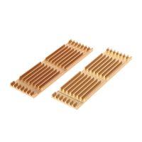 алюминиевая охлаждающая подкладка оптовых-2 Pcs/Set LxWxH(72x22x3mm) Aluminum Alloy Heatsink Thermal Pad For M.2 NGFF SSD Cooling
