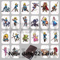 Wholesale Links Data - 22PCS Game NFC Cards New 4 Hero Data Tag 20 heart Wolf Link For Zelda Breath of the wild NS Switch