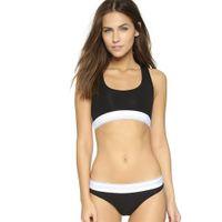 Wholesale sexy thongs for girls - Fashion Brand Women Bra+Thong Underwear Set High Quality Cotton Seamless Sexy Lady Bikini + Bra Suit for Girls