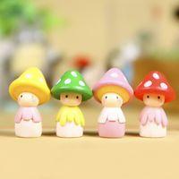 ingrosso artigianato decorativo di natale-Nuova casa delle bambole in miniatura Casa delle bambole in miniatura Bonsai Fairy Garden Micro Paesaggio Mushroom Doll Regalo di Natale Home Decor