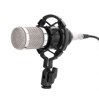 ücretsiz kondenser mikrofonu toptan satış-Profesyonel Ses Kondenser Mikrofon Set Stüdyo Şok Dağı ile Ücretsiz Kargo Ses Kaydı Mikrofon