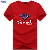 diamant t-shirt frauen großhandel-Arbeiten Sie T-Shirt Diamantmannfrauen um, die 2018 beiläufige kurze Hülsent-shirt Männer Marke Designer-Sommert-shirts J02 kleiden