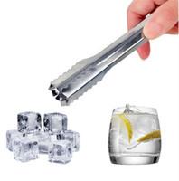 stück barsatz großhandel-Edelstahl Buffet BBQ Eiszange Clamp Hochzeit Bar Party Küche Werkzeug küche zange pick eis Geschirr bar werkzeug 5 teile / los BBA323
