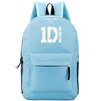 bolso de escuela de musica al por mayor-Mochila One Direction mochila 1D Mochila con banda de música mochila de diseño fresco Mochila deportiva Mochila de día al aire libre
