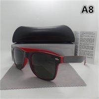 púrpura gafas de sol para mujer al por mayor-1 unids Nueva moda vintage para hombre Diseñador de las mujeres gafas de sol de gafas de sol de marco de oro púrpura colorido espejo 58mm Len Eyewear Brown Box