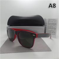 lila frauen sonnenbrille großhandel-1pcs New fashion vintage Herren Damen Designer Pilot Sonnenbrille Sonnenbrille Gold Rahmen Lila Bunte Spiegel 58mm Len Brillen Braun Box