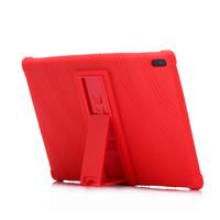 tab4 cover großhandel-Weiche Silikon stoßfest Rückseitige Abdeckung für Lenovo Tab4 10 Tab4 10 Plus Silikagel Schutz Fall Fall für 10,8 Zoll Tablet PC