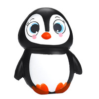 Wholesale Cute Penguin Cartoons - Penguin PU Cute Lovely Cartoon Pendant Kawaii Squishy Simulation Bread Food Squishy Super Kid Toy Decompression Toys