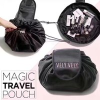 Wholesale bulk cosmetics - Lazy Make Up Makeup Bag Portable Travel Korea Drawstring Bulk Storage Cosmetics Dual Magic Bags Artist Wash Bags Organizer 6 Colors