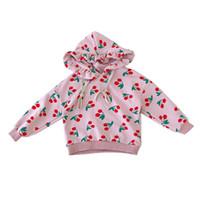 b468f95a8bb57 2018 Automne Toddler Enfants Fille Hoodiessweaters Imprimer Cerise Sweet  Mode Vêtements Fille Fille