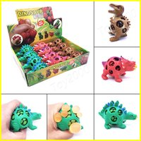 Wholesale toy splat balls - Anti Stress Dinosaur Ball Novelty Fun Splat Grape Venting Balls Squeeze Stresses Reliever Gags Practical Jokes Toy Funny Gadgets