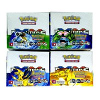 Wholesale play version - Trading Cards Games Sun&Moon Evolution Version 4 Styles Anime Pocket Monsters Cards Toys Super Heros 324pcs lot=32bags=1box Playing Cards