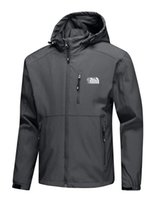 ingrosso giacche all'aperto arrampicata-Vendita calda Viso uomo Felpa con cappuccio Apex Bionic North Giacche Giacca SoftShell Moda Outdoor Antivento Impermeabile outwear da arrampicata