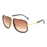 lunettes de soleil de célébrité achat en gros de-Flat Top Hot Femmes Carré Lunettes de Soleil Hommes De Luxe Marque Design Couple Lady Célébrité Brad Pitt Lunettes de Soleil Super Star Lunettes