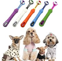 mundhunde großhandel-Dreiseitige Haustierzahnbürste Hund Haustiere Reinigen Mund Zähne Pflege Reinigung Werkzeuge Werkzeuge Zahnbürste KKA6279