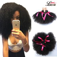 Wholesale hair extensions afro curls - new style Virgin brazilian Afro curly hair weft human hair extensions 100% unprocessed natural black color afro kinky curl Free Shipping