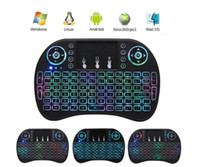 Wholesale Remote Mouse Android - Rii I8 Smart Fly Air Mouse Remote colorfull Backlight 2.4GHz Wireless Bluetooth Keyboard Remote Control Touchpad For TV Android Box