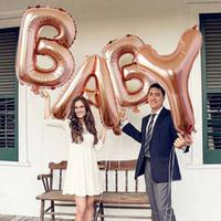 balon duş toptan satış-4 Adet 40 inç Aşk mektubu Folyo Balonlar Bebek duş Alüminyum Balon Doğum Günü Dekorasyon Parti Malzemeleri haif