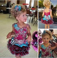 Wholesale gold colored crystals for sale - Group buy Cute Multi Colored Girl s Pageant Dresses with Straps Beaded Crystal Organza Tiered Skirt Organza Birthday Party Dress Kids Formal Wear