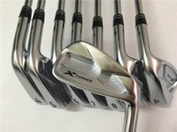 Wholesale oem set - 100% OEM X Forged Iron Set Golf Irons Golf Clubs 3-9Pw Regular Stiff Steel Shaft With Head Cover
