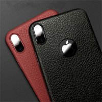Wholesale iphone plus skin cases for sale - Group buy Ultra Thin Phone Cases For Iphone X Leather Skin Soft TPU Silicone Case For Iphone S Plus