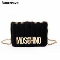 Wholesale Trendy Yellow Handbags - 2018 new Women's chain shoulder crossbody bag diagonal leisure fashion letters small square trendy handbags bolsa feminina