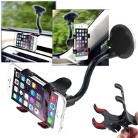 Wholesale Windshield Gps Holder - Car phone Holder 360 Adjustable lazy Rotating Phone Window Windshield Mount GPS Holder Universal 360 Mobile Phone Holder FFA114 100pcs