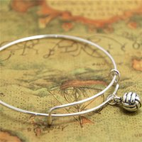 Wholesale volleyball jewelry resale online - 12pcs Volleyball bracelet Charm bangle adjustable Volleyball Jewelry Volleyball Mom