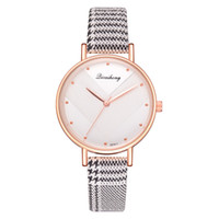 имитация наручных часов для женщин оптовых-Fashion Luxurious Ladies Leather Imitation Pattern Quartz Analog Wrist Watches Women  Wristwatch Bracelet  Ladies 2018