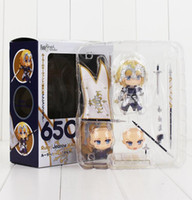 Wholesale finish order - 10cm Nendoroid 650 Fate Grand Order Ruler Jeanne d'Arc Action Figure With Weapon Model Toy Free Shipping
