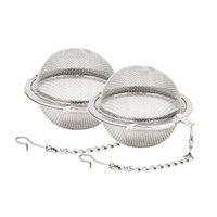 metal çay infüzör topu toptan satış-Paslanmaz Çelik Hasır Çay Topları Çay Için 5 cm Çay Demlik Süzgeçler Filtreler Aralığı Difüzör Mutfak Yemek Bar Araçları WX9-378