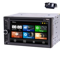 Wholesale rear view camera tv dvd for sale - 6 Double DIN In Dash Car DVD CD Player Car Stereo Head Unit Bluetooth USB AM FM Radio for Universal Backup Camera Remote Control