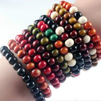 ingrosso cera d'api gialla all'ingrosso-2018 hot sales Beads Annatto Bracelet Buddha's Words Sandalwood Round Bead Bracelet Manufacturer Nine kinds of color